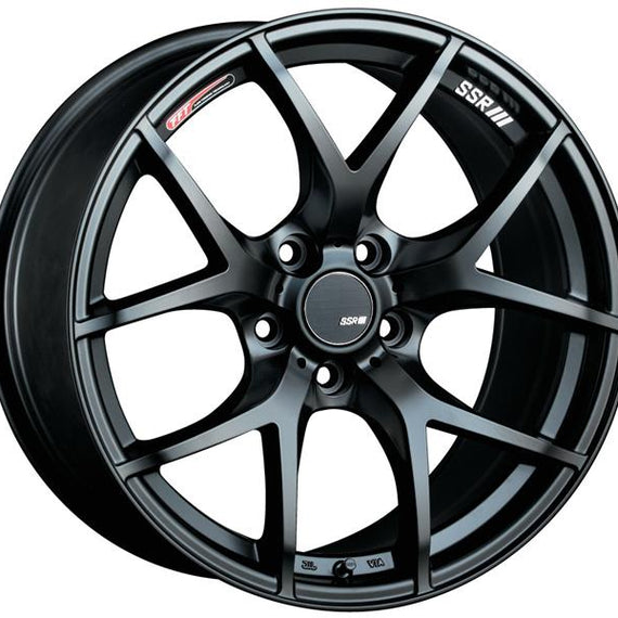 SSR GTV03 18x9.5 5x114.3 45mm Offset Flat Black Wheel S2000 / 11+ WRX / 08+ STI