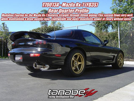 Tanabe Medallion Touring Axleback Exhaust 93-97 RX-7