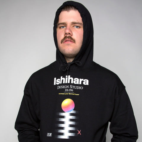 ishihara design aesthetic and vaporwave hoodie