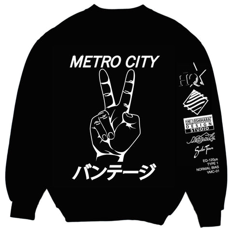 Limited Edition : 石原 x Neoncity Records - VANTAGE// Metro City Crewneck