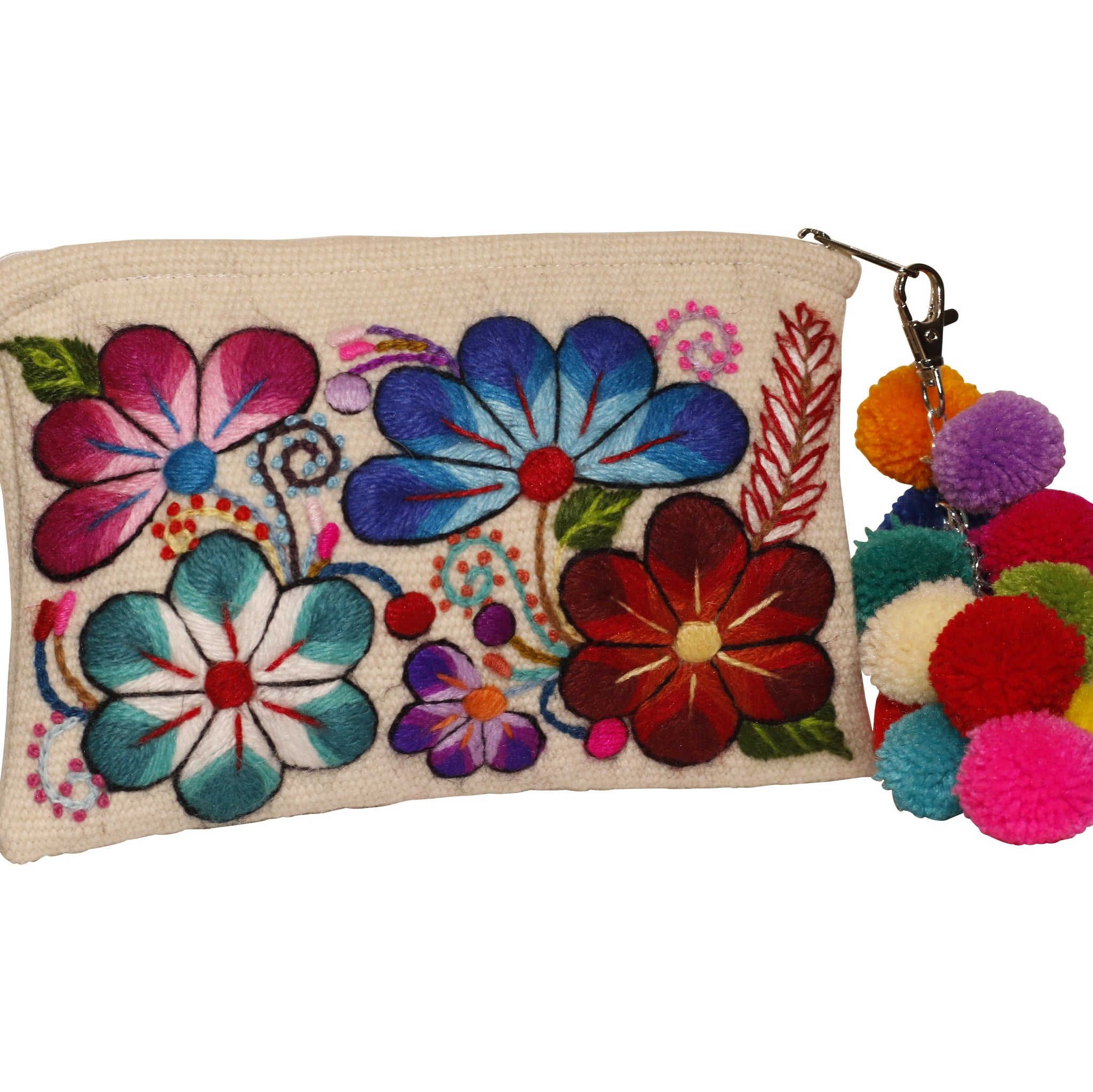Valentina Embroidered Clutch Bag