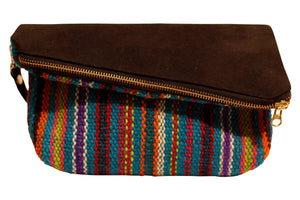 Analee Handwoven  Suede Handbag