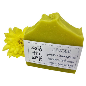 Zinger Handcrafted Soap from said the wolf