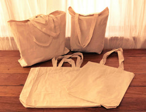 Organic Cotton Shopper Bags