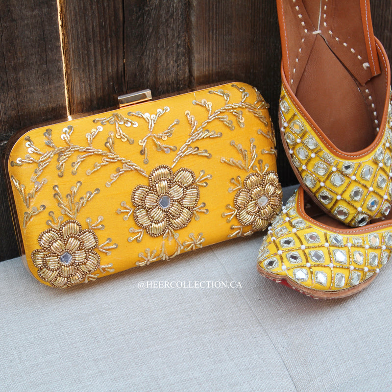 Mustard Yellow Clutch