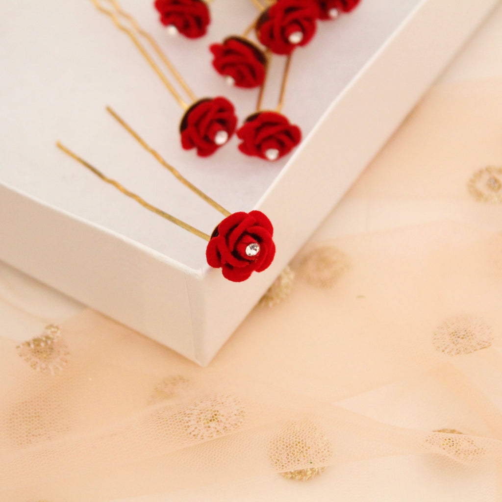 Red Rose Pins-Pack of 12