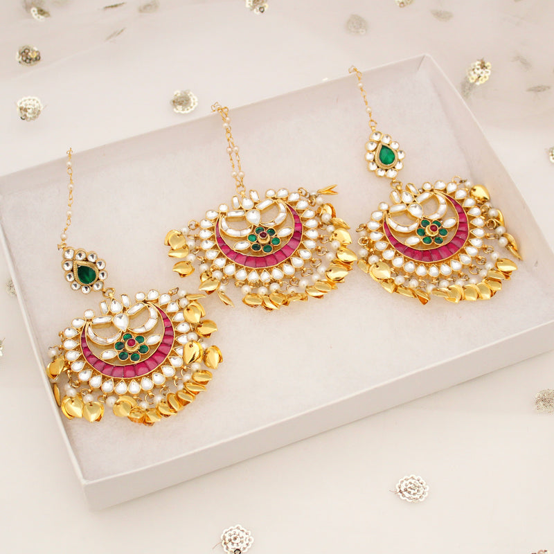 Multi Color Pachi Kundan Set