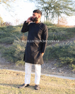 Black and White Kurta Pajama