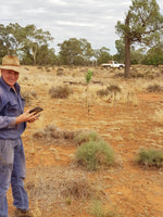 Robin Sanderson from Condobolin with his WiFi repeater in the background