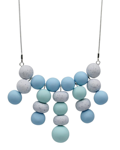 Sky Blue 20 Bead Necklace