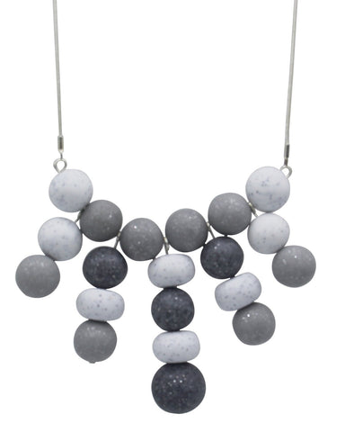 Graphite 20 Bead Necklace