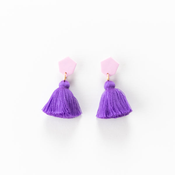 Fleur Earrings - Purple