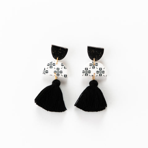 Meave Earrings - Clover White