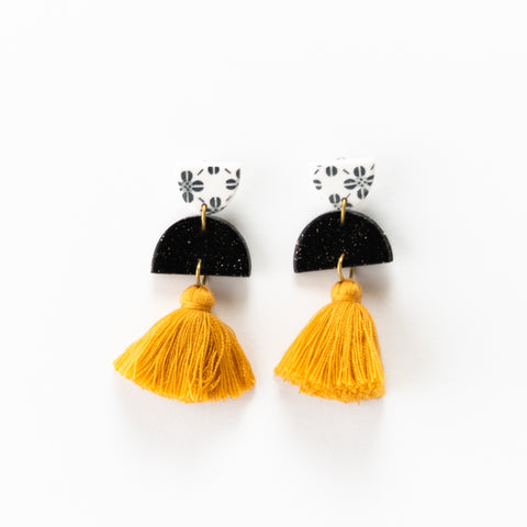 Meave Earrings - Clover Mustard