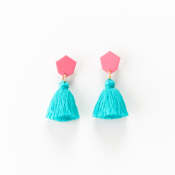 Fleur Earrings - Turquoise