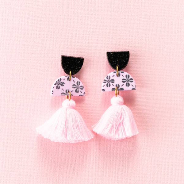 Meave Earrings - Clover Pink