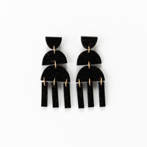 Earrings 3.0 Black Fleck