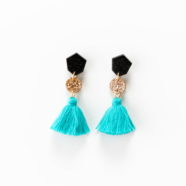 Fleur Earrings 2.0 - Turquoise
