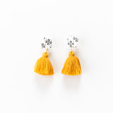 Fleur Earrings - Clover Mustard