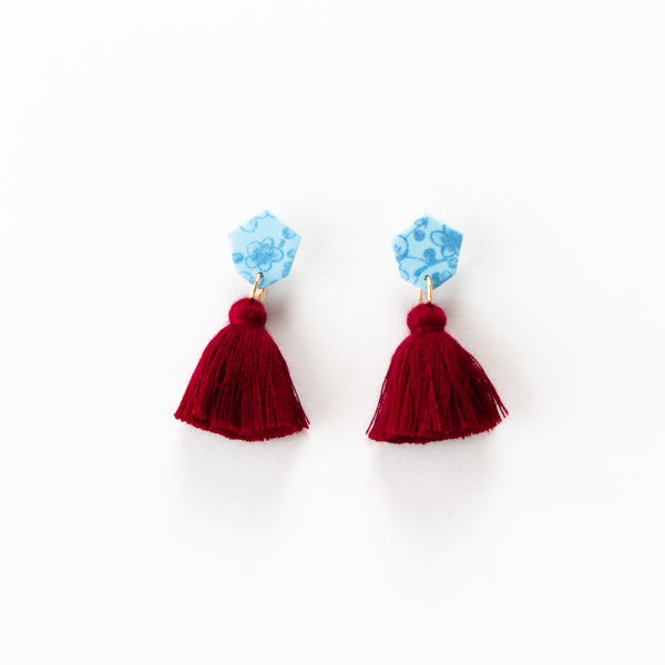 Fleur Earrings - Floral Autumn