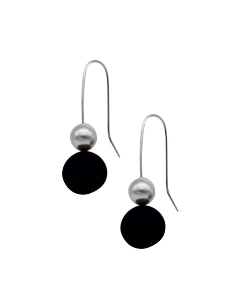 Pearl Drop Earrings - Midnight