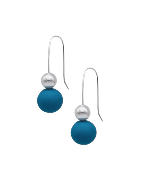 Pearl Drop Earrings - Turquoise