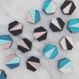 Deco Hex Earrings - Multi