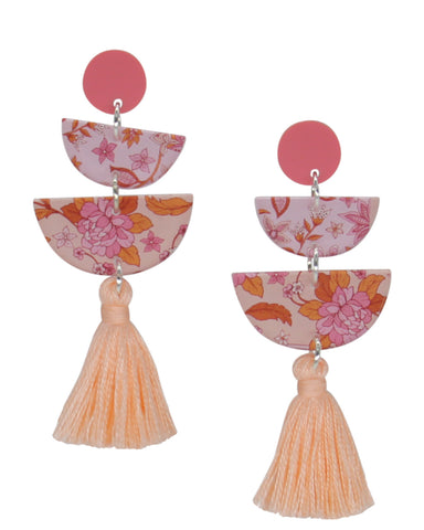 Spring Rose 2.0 Earrings - Coral