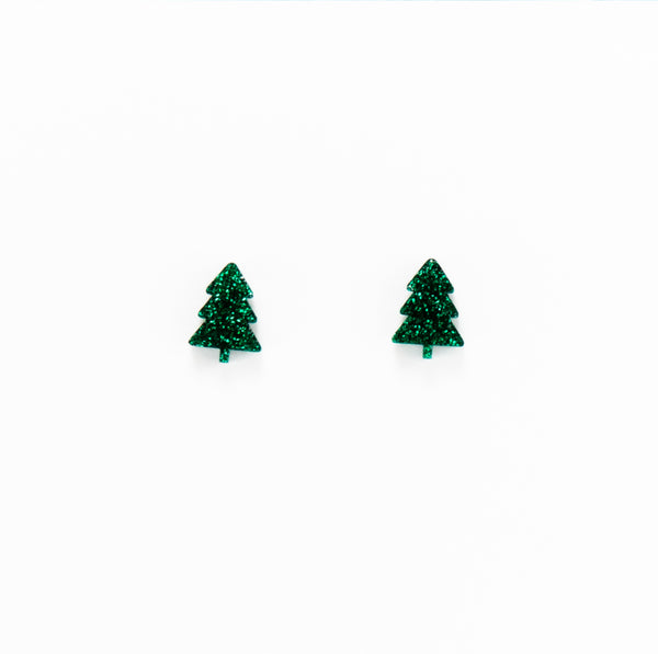 Christmas Tree Stud - Green