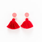 Holly Earrings - Pink