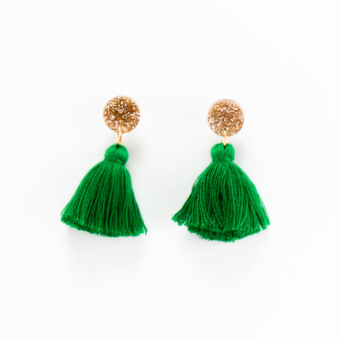 Holly Earrings - Green
