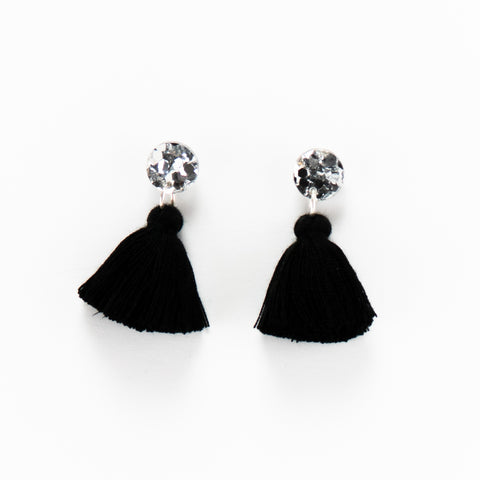 Holly Earrings - Silver & Black