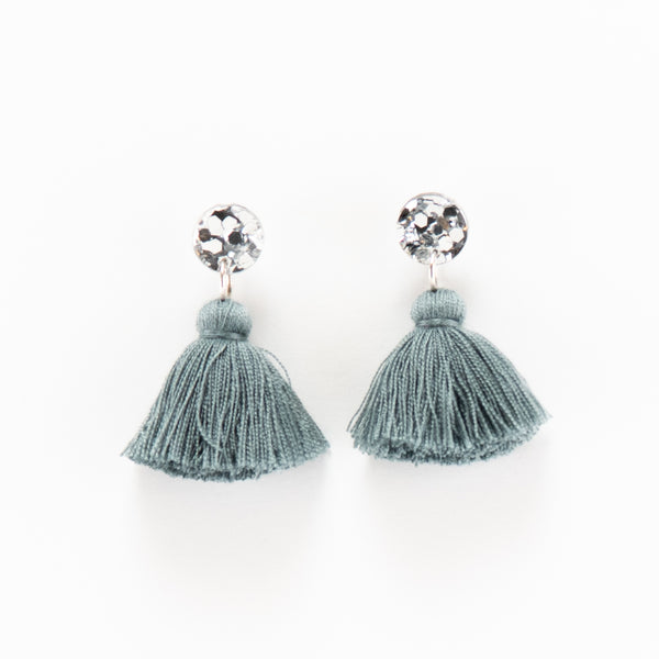 Holly Earrings - Silver & Grey