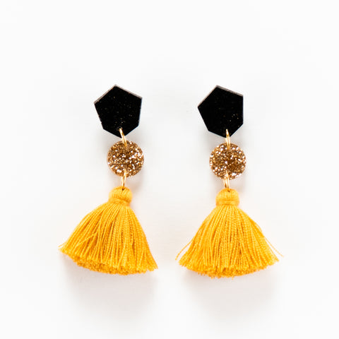 Fleur Earrings 2.0 - Mustard