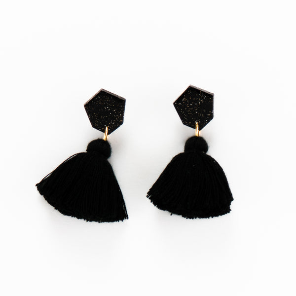 Fleur Earrings - Black