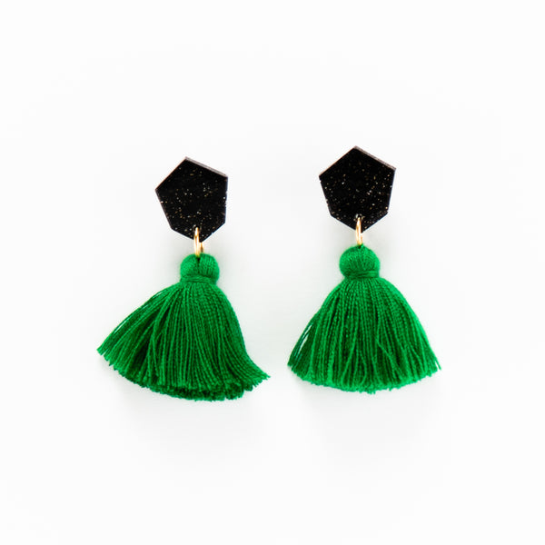 Fleur Earrings - Emerald