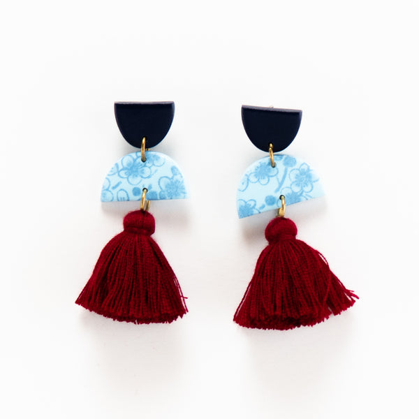 Meave Earrings - Floral Autumn