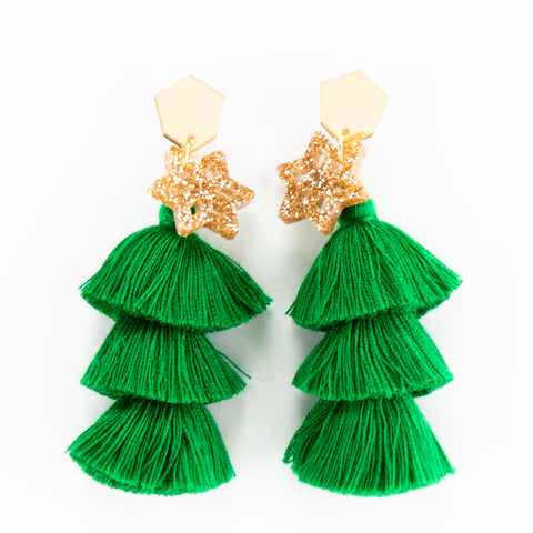 Xmas Pine Earrings - Grande