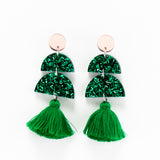 Glitter Tree Earrings