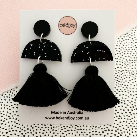 Meave Earrings - Black