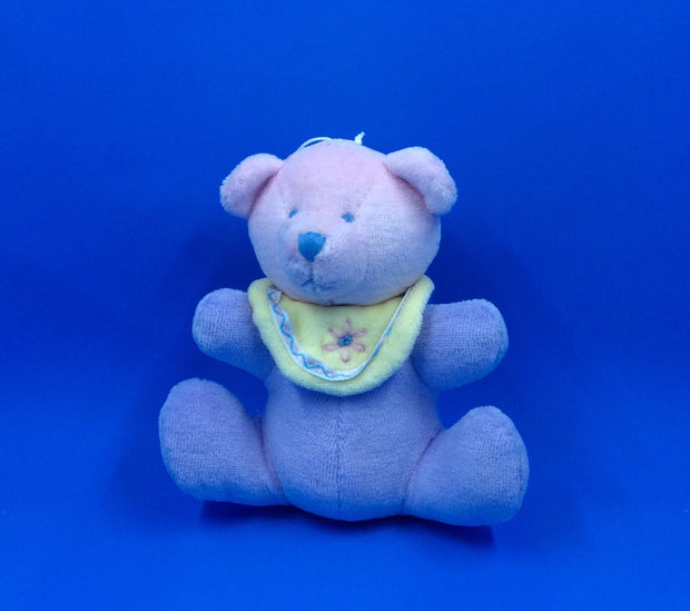 Stuffed Baby Bear: Purple W/Yellow Bib or Multi-Colored W/Pink Bib - HartFelt Keepsakes