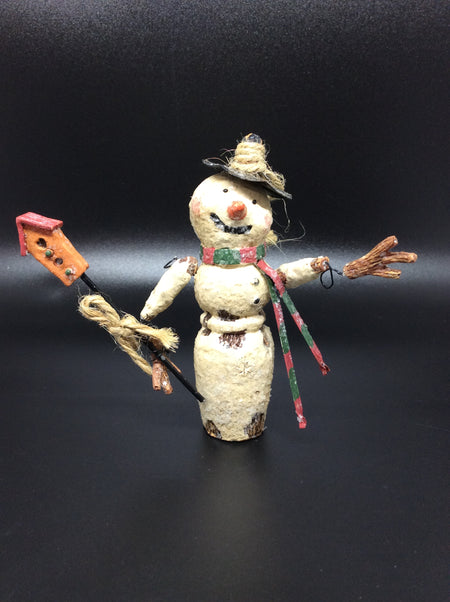 Vintage Ornaments: Snowman, Nutcracker, Angel, and Snow Maiden