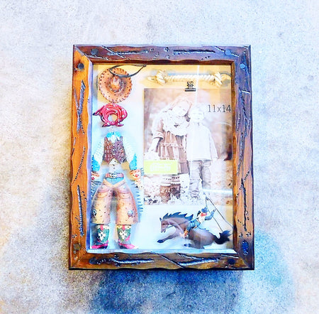Precious Cowboy-Themed Shadow Box Picture Frame Display Case (FREE Shipping) - HartFelt Keepsakes