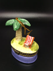 Tropical Island Porcelain Keepsake Box - HartFelt Keepsakes