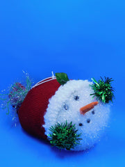 Stuffed Snowman Head: Red Stocking Cap or Green, Red and White Stocking Cap - HartFelt Keepsakes