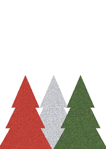 Card - Christmas Trees (Red, Silver, Green) - HartFelt Keepsakes