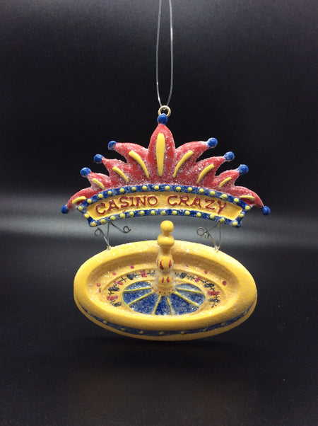 Lucky Casino Gambling Ornaments: Slot Machine, Roulette Wheel, Craps Table Dice - HartFelt Keepsakes