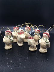Old School Snowman, Set of 7/ $5.00 Set - HartFelt Keepsakes
