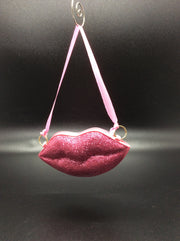 Kiss me quick!  Glitter Red or Hot Pink Lips - HartFelt Keepsakes
