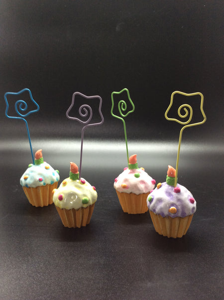 Cupcake Photo or Card Holder (Set of 4) - HartFelt Keepsakes